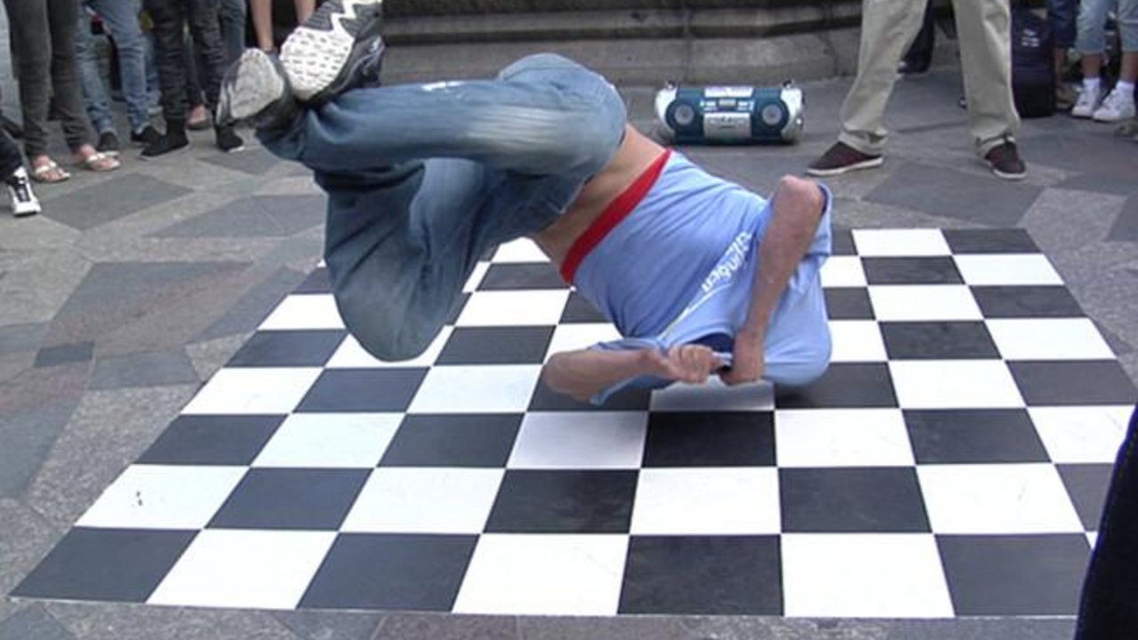 Crazy breakdancer på Strøget